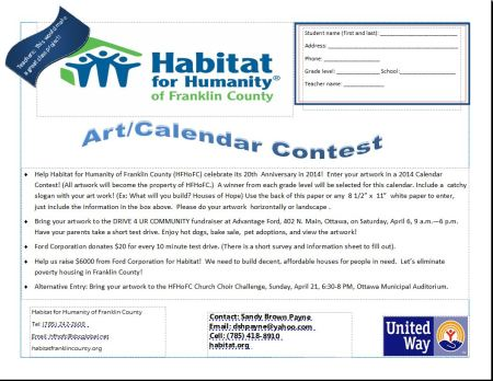 HFH art-calendar contest and info